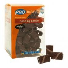 "MEDICOOL SANDING BANDS 1/4"" MEDIUM GRIT 100PK"