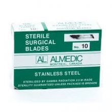 STERILE SURGICAL BLADES - STAINLESS STEEL - BOX OF 100