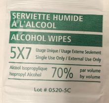 ALCOHOL WIPES 20PK