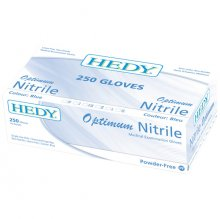HEDY OPTIMUM NITRILE GLOVES (S) BLUE 250PK