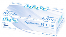 HEDY OPTIMUM NITRILE GLOVES (L) BLUE 250PK