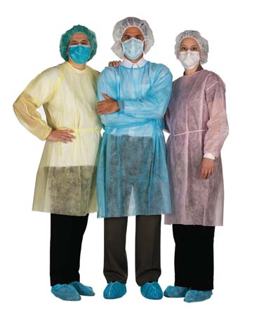 ISOLATION GOWNS - 10 per package